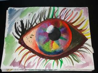 Eye painting (Not canvas)