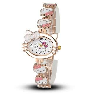 🚚 Hello kitty學生表創意時尚手錶女款 百搭手鏈表石英表 (現貨)