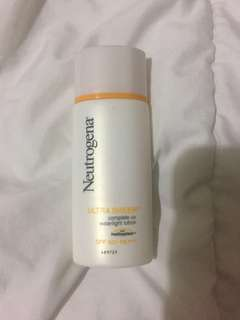 NEW! Neutrogena Ultra Sheer Complete UV Waterlight Lotion