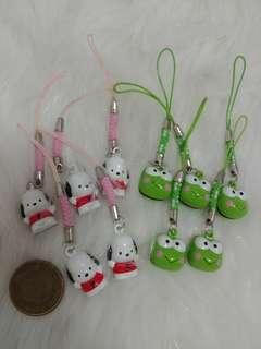 💮絕版💮Pochacco PC狗/Keroppi青蛙 電話繩 鎖匙扣(每個)