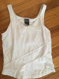 White Nike dry fit singlet top size small-medium