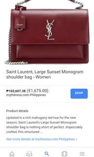 GUARANTEED AUTHENTIC!! Yves Saint Laurent - Shoulder Bag YSL