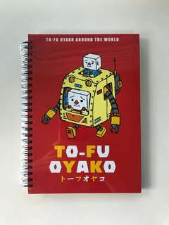Tofu Oyako - Robots Around The World A5 Notebook | Cute Kids Children Stationery Japan Japanese To-fu Oyako Devil Robots Robot Character Sketchbook Note Book Merchandise
