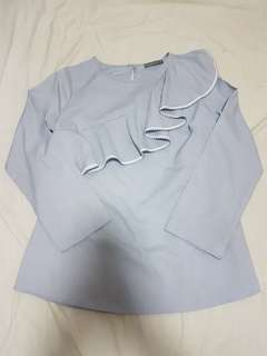 Poplook - Tancy Toga Style Ruffle Blouse