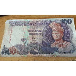Malaysian RM100 Old Note