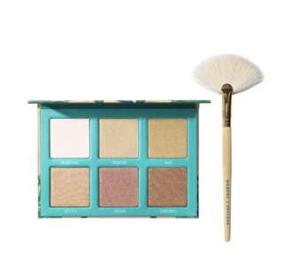 Authentic Bretman Rock x Morphe Babe in Paradise Highlighter Palette with Fan Brush