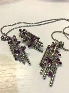 紫水晶首飾一套(包郵)