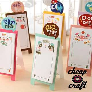 2pcs Can Stand Korean Sticky Note