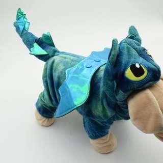 寵物衣(四腳)-恐龍,馴龍高手沒牙-藍色