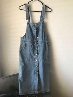 Sportsgirl denim dress overalls