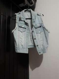 Jeans Sleeveless Jacket [Once Used]