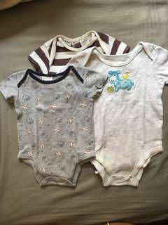 Bundle: 3 Onesies from Cocoon and Peanuts
