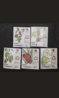 Malaysia 1986 Johor Agro-Based Products Loose Set - 5v Used Stamps