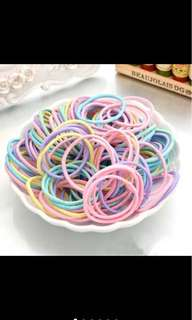 Colorful hair rubber bands for girls
