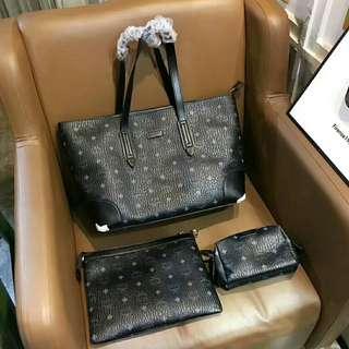 3pcs Set Handbag Clutch and pouch
