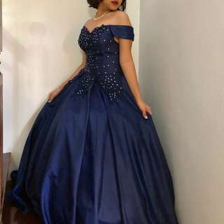 For Rent Blue BallGown