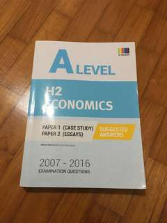 A level H2 econs TYS (2007-2016) ANSWERS