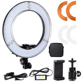 45W Digital Photographic Studio Ring Light 5500K With 180 Beads LED Camera Photo Dimmable LED lighting With Bag