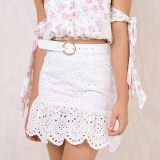 Princess Polly White Clementine Skirt