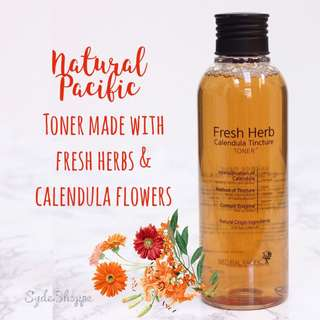 NATURAL PACIFIC FRESH HERBS CALENDULA TINCTURE TONER