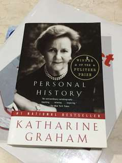Personal history of KATHARINE GRAHAM