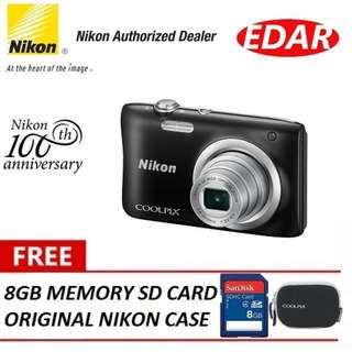NIKON A100 COOLPIX DIGITAL CAMERA ««ORIGINAL & OFFICIAL NIKON»»