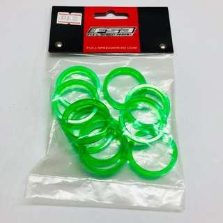 FSA Transparent Green Stem Spacers 5MM.