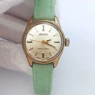 Vintage ENICAR Star Jewels Swiss Ladies' Watch Stainless Steel Back Incabloc