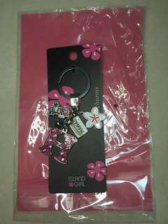 Pink brand new H keychain charms Hawaii aloha flower