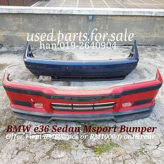 BMW E36 Sedan Msport Bumper