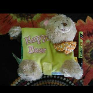 Soft book happy bear