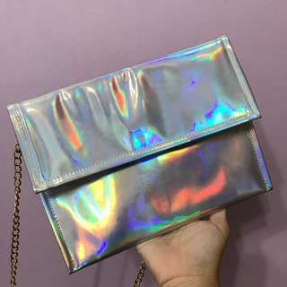 Holographic Clutch/ Sling