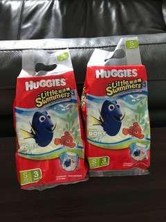 全新 Huggies 游泳 游水 尿片S 碼 x2