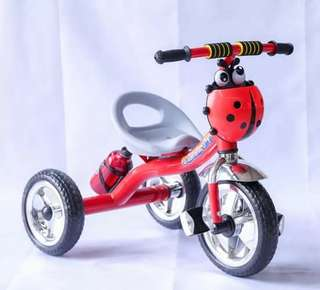 Pre Order 3in1 Children bike Rubber tires With music kettle 2-4 years old