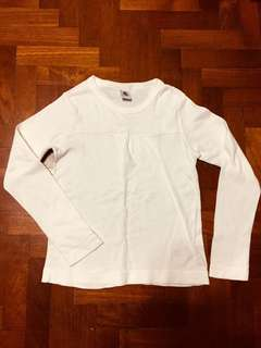 Petit Bateau white Long sleeve top