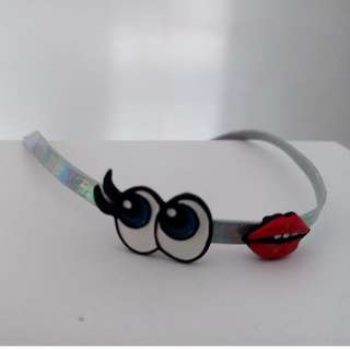 Holographic Eyes and Mouth Wrap Bracelet/Choker