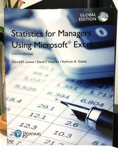 Statistics for Managers (Eighth Edition) by Pearson
