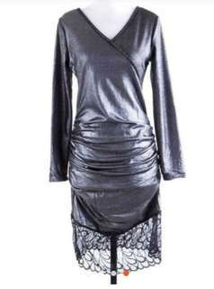 Bodycon grey glossy Import dress