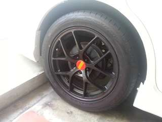 "17"" BBS Rep Rims with Tyres"