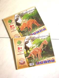 BN wooden dinosaurs craft 2 for $8
