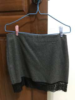Laced grey skirt