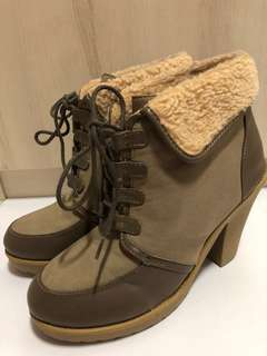 H&M Fur Lined Heeled Ankle Boots