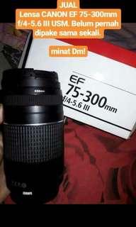 lensa canon EF 75-300 f/4-5.6 III USM