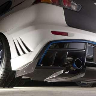 Evo x varis rear bumper with under diffuser