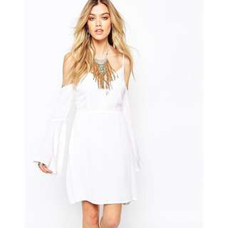 BNWT Miss Guided Off The Shoulder Boho Dress