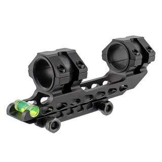 Tactical Scope Mount 25.4 mm 30mm Dual Ring Cantilever Heavy Duty Riflescope Mount with Bubble Level 20mm Rail Base