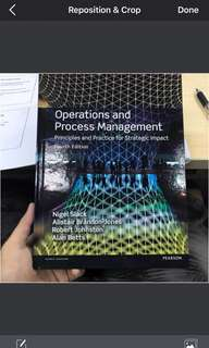 Operations and Process Management 4th edition
