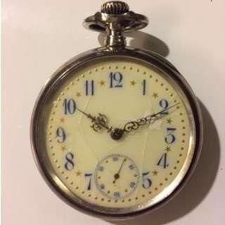 Porcelain face vintage pocket watch