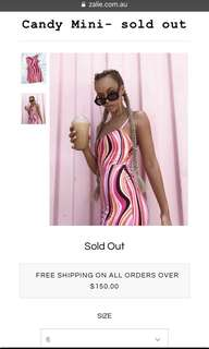 Zalie Candy Mini Dress