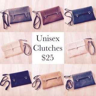 Unisex clutch/laptop bag